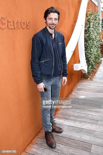 Actor Raphael Personnaz attends the 2016 French Tennis Open Day Six at Roland Garros on May 27 2016 in Paris France