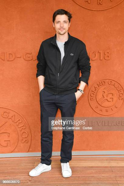 Actor Raphael Personnaz attends the 2018 French Open Day Eight at Roland Garros on June 3 2018 in Paris France
