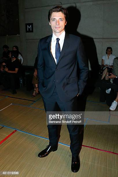 Actor Raphael Personnaz attends the Cerruti show as part of the Paris Fashion Week Menswear Spring/Summer 2015 on June 27 2014 in Paris France