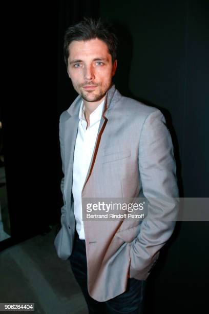 Actor Raphael Personnaz attends the YSL Beauty Hotel event during Paris Fashion Week Menswear Fall/Winter 20182019 on January 17 2018 in Paris France