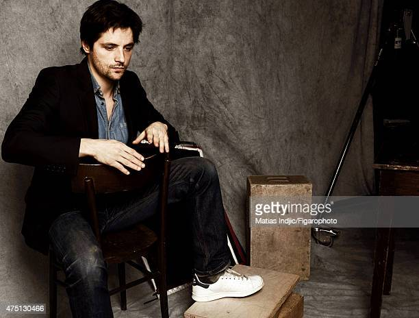Actor Raphael Personnaz is photographed for Madame Figaro on January 17 2015 in Paris France Jacket Makeup by Givenchy Le Make Up PUBLISHED IMAGE...