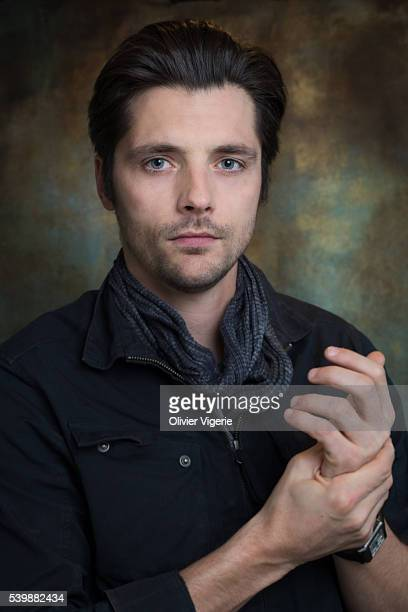 Actor Raphael Personnaz is photographed for Self Assignment on November 18 2015 in Paris France