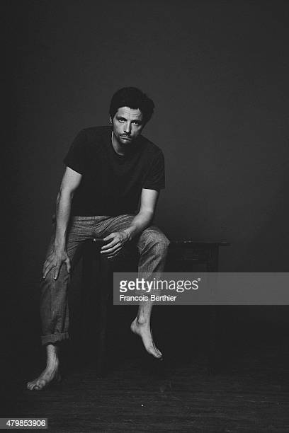 Actor Raphael Personnaz is photographed for Self Assignment on June 5 2015 in Paris France