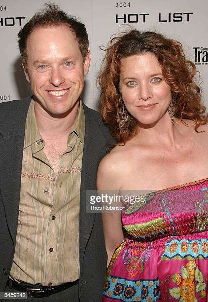 Actor Raphael Sbarge and his wife Lisa Akey attend the Conde Nast Traveler Hot List Party at Hotel Gansevoort April 22 2004 in New York City