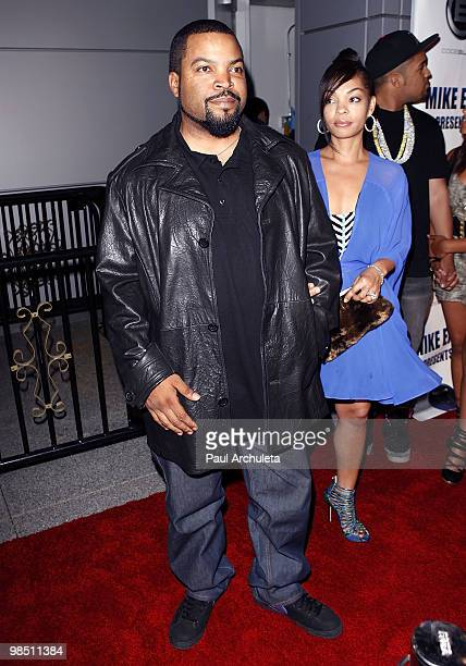 Actor / Rapper Ice Cube his wife arrives at comedian Mike Epps celebrity showcase at Club Nokia on April 16 2010 in Los Angeles California