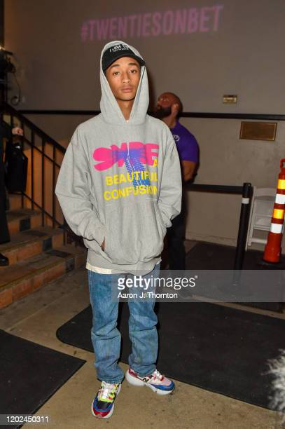 "Actor / Rapper Jaden Smith attends the ""BET Twenties"" produced by Lena Waithe Screening during the Sundance Film Festival on January 27, 2020 at Park..."
