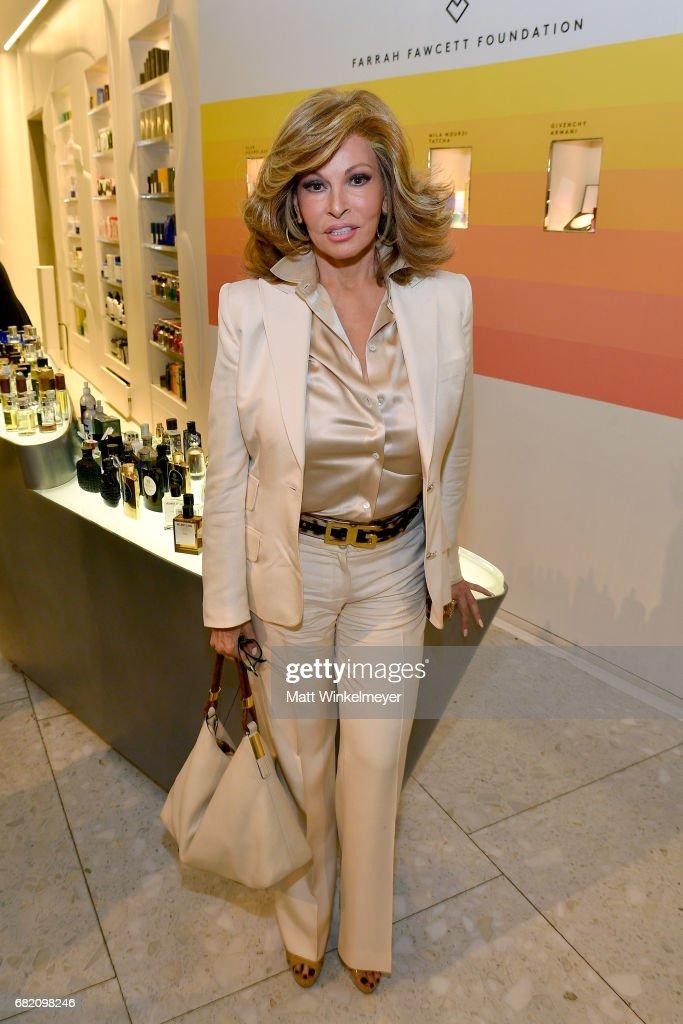 Actor Raquel Welch attends Barneys New York Celebration of the Farrah Fawcett Foundation at Barneys New York Beverly Hills on May 11, 2017 in Beverly Hills, California.