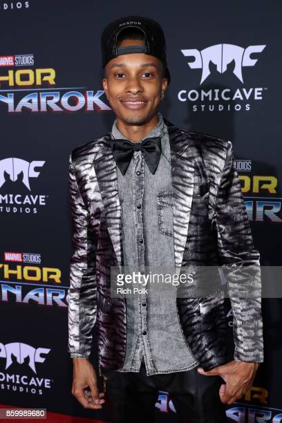 Actor Rashaad Dunn at The World Premiere of Marvel Studios' 'Thor Ragnarok' at the El Capitan Theatre on October 10 2017 in Hollywood California
