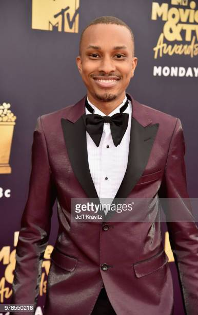 Actor Rashaad Dunn attends the 2018 MTV Movie And TV Awards at Barker Hangar on June 16 2018 in Santa Monica California