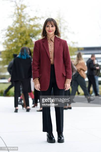 Actor Rashida Jones poses for a photo during an Apple product launch event at the Steve Jobs Theater at Apple Park on March 25 2019 in Cupertino...