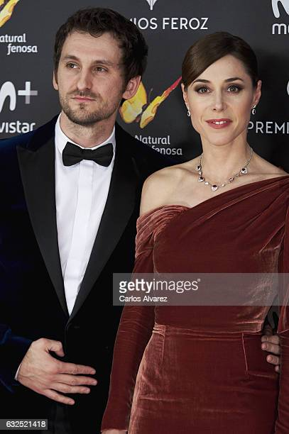 Actor Raul Arevalo and actress Ruth Diaz attend the Feroz cinema awards 2016 at the Duques de Pastrana Palace on January 23 2017 in Madrid Spain