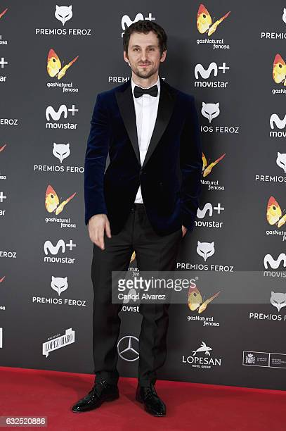 Actor Raul Arevalo attends the Feroz cinema awards 2016 at the Duques de Pastrana Palace on January 23 2017 in Madrid Spain
