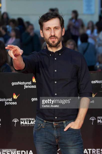 Actor Raul Arevalo attends the Malaga Sur award ceremony during the 21th Malaga Film Festival at the Cervantes Theater on April 14 2018 in Malaga...