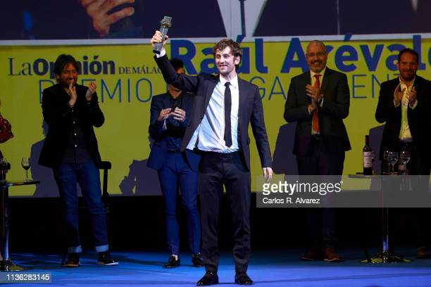 Actor Raul Arevalo receives the 'Talent' award 2019 during the 22th Malaga Film Festival at the Cervantes Theater on March 16 2019 in Malaga Spain