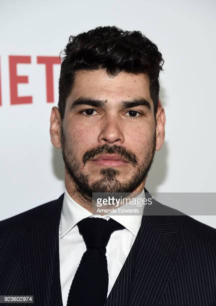 Actor Raul Castillo arrives at Netflix's 'Seven Seconds' Premiere at The Paley Center for Media on February 23 2018 in Beverly Hills California