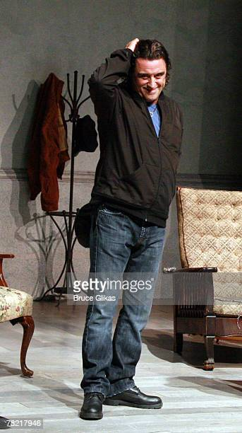 NEW YORK NOVEMBER 25 Actor Raul Esparza takes his Curain Call at The Homecoming on Broadway's Broadway Cares/Equity Fights AIDS Benefit at New World...