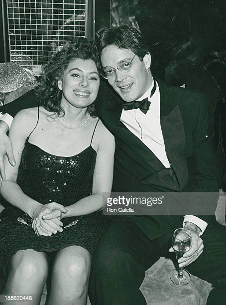 Actor Raul Julia and Merel Poloway attend the cast party for Nine on December 31 1982 at Regine's in New York City