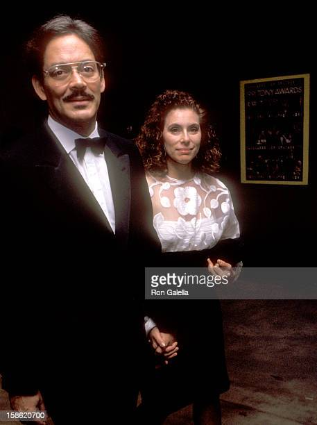 Actor Raul Julia and wife Merel Poloway attend the 45th Annual Tony Awards on June 2 1991 at Minskoff Theatre in New York City