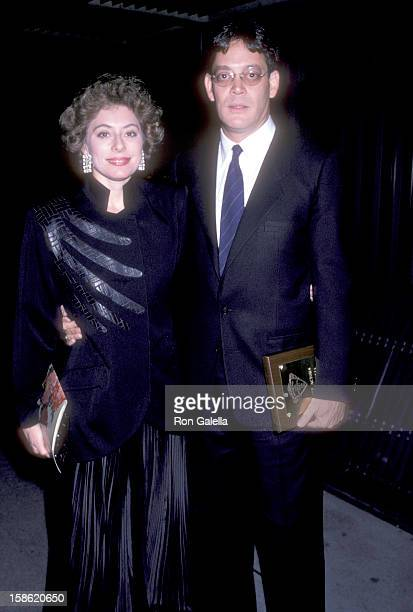 Actor Raul Julia and wife Merel Poloway attend the 57th Annual National Board of Review of Motion Pictures Awards on January 27 1986 at The Japan...