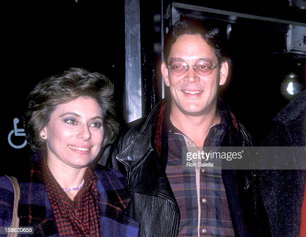 Actor Raul Julia and wife Merel Poloway attend the Down and Out in Beverly Hills New York City Premiere on January 22 1986 at Museum of Modern Art in...