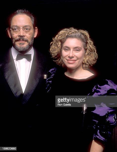 Actor Raul Julia and wife Merel Poloway attend the Enter Joseph Papp Gala Honoring Joseph Papp to Benefit the YIVO Institute for Jewish Research on...