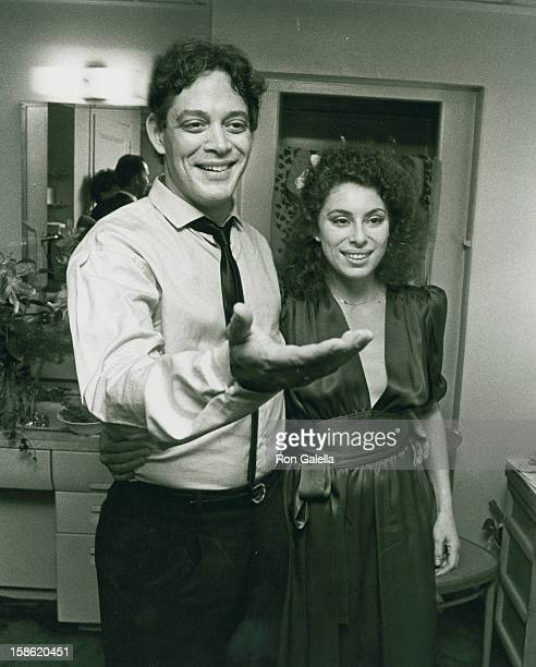Actor Raul Julia and wife Merel Poloway attend the opening of Nine on May 9 1982 at the 46th Street Theater in New York City