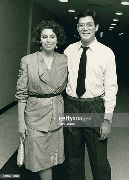 Actor Raul Julia and wife Merel Poloway attend the opening party for Design for Living on June 20 1984 at Luchow's Restaurant in New York City
