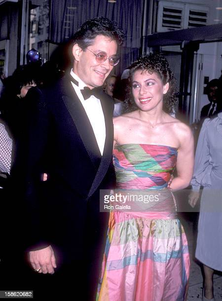 Actor Raul Julia and wife Merel Poloway attend the Tempest New York City Premiere on August 8 1982 at Loews Tower East in New York City