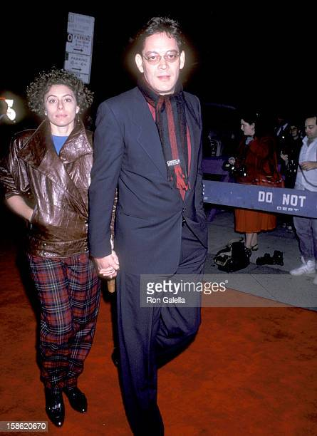 Actor Raul Julia and wife Merel Poloway attend the Twice in a Lifetime New York City Premiere on October 21 1985 at Beekman Theatre in New York City