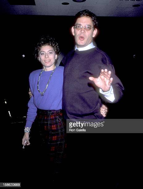 Actor Raul Julia and wife Merel Poloway on December 2 1985 party at Visage in New York City