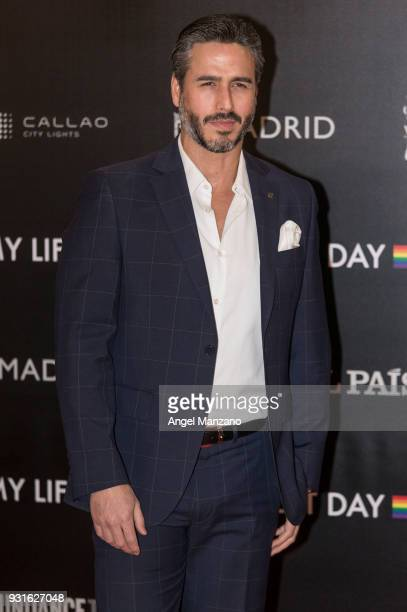 Actor Raul Olivo attends 'The Best Day Of My Life' Madrid premiere at Callao cinema on March 13 2018 in Madrid Spain