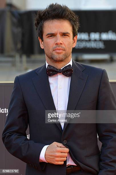 Actor Raul Pena attends Nuestros Amantes premiere at the Cervantes Teather during the 19th Malaga Film Festival on April 30 2016 in Malaga Spain