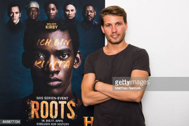 Actor Raul Richter is seen at the dubbing studio for the new HISTORY drama series 'Roots' on February 23 2017 in Berlin Germany