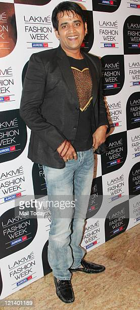 Actor Ravi Kissen during a Lakme Fashion Week winter/Festive 2011 being held at Grand Hyatt in Mumbai on Thursday