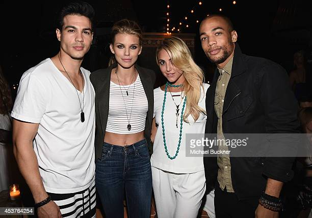 Actor Ray Diaz actress AnnaLynne McCord actress Cassandra Scerbo and actor Kendrick Sampson attend the 3rd Annual Summer Soiree at Petit Ermitage...