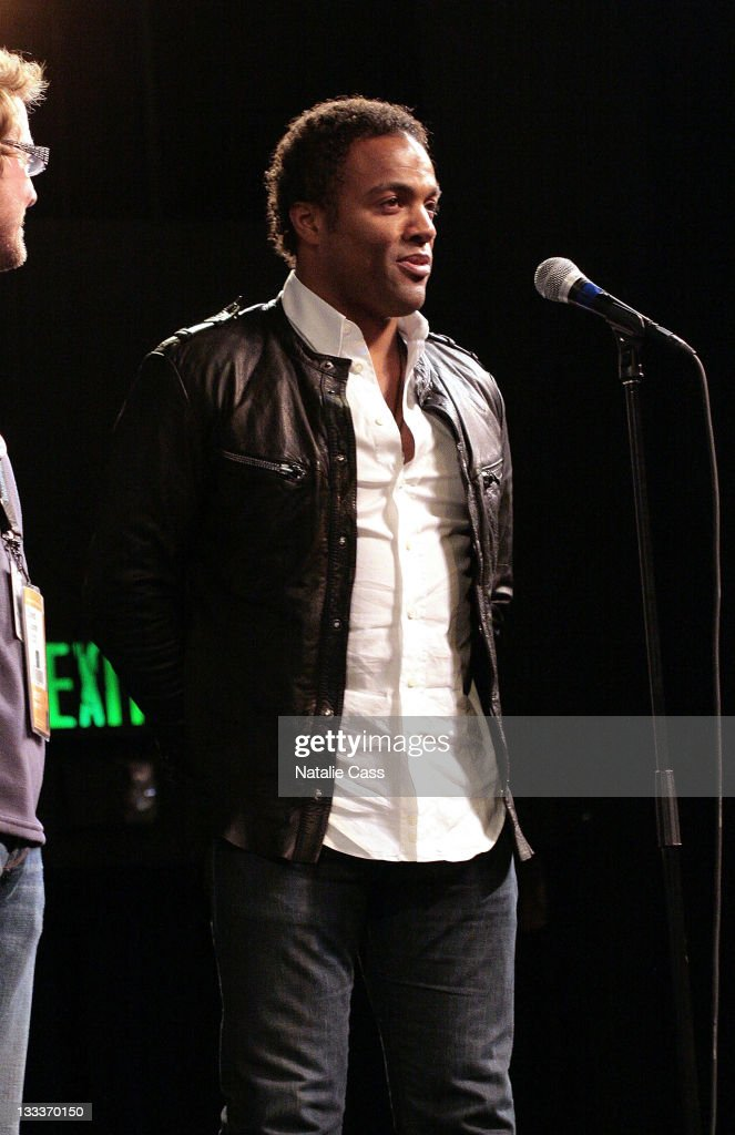 Actor Ray Fearon speaks at the premiere of 'Lulu and Jimi' during the 2009 Sundance Film Festival at the Egyptian Theatre on January 16, 2009 in Park City, Utah.