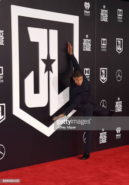 Actor Ray Fisher arrives at the premiere of Warner Bros Pictures' 'Justice League' at the Dolby Theatre on November 13 2017 in Hollywood California