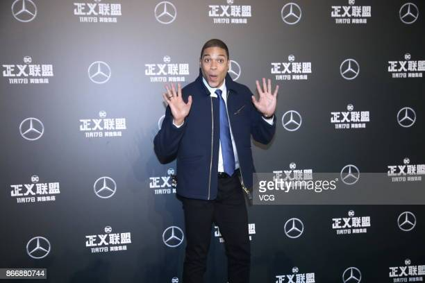 Actor Ray Fisher attends 'Justice League' premiere at 798 Art Zone on October 26 2017 in Beijing China