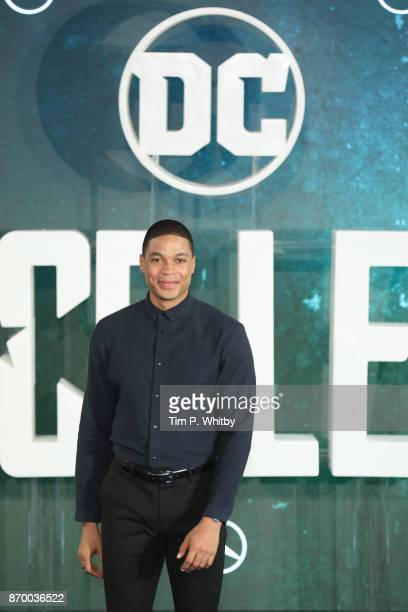 Actor Ray Fisher attends the 'Justice League' photocall at The College on November 4 2017 in London England