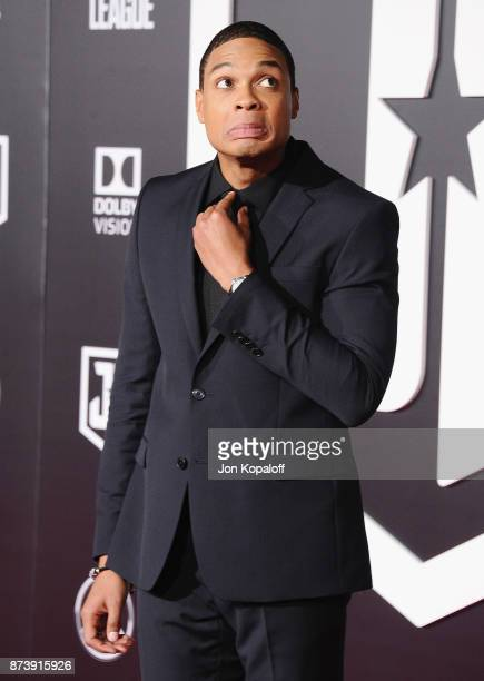 Actor Ray Fisher attends the Los Angeles Premiere of Warner Bros Pictures' 'Justice League' at Dolby Theatre on November 13 2017 in Hollywood...