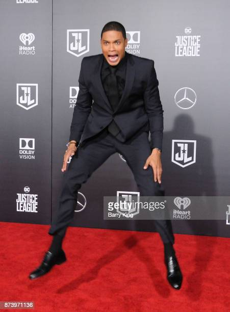 Actor Ray Fisher attends the premiere of Warner Bros Pictures' 'Justice League' at Dolby Theatre on November 13 2017 in Hollywood California