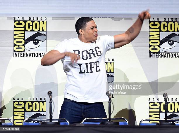 Actor Ray Fisher attends the Warner Bros Presentation during ComicCon International 2016 at San Diego Convention Center on July 23 2016 in San Diego...