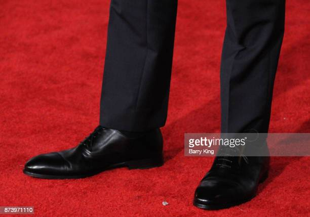 Actor Ray Fisher shoe detail attends the premiere of Warner Bros Pictures' 'Justice League' at Dolby Theatre on November 13 2017 in Hollywood...