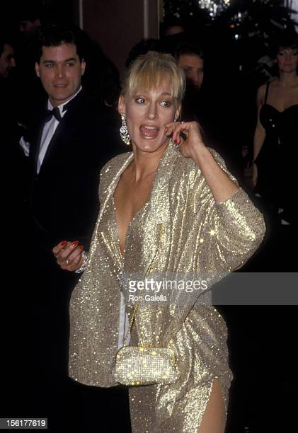 Actor Ray Liotta and actress Sandahl Bergman attend 44th Annual Golden Globe Awards on January 31 1987 at the Beverly Hilton Hotel in Beverly Hills...