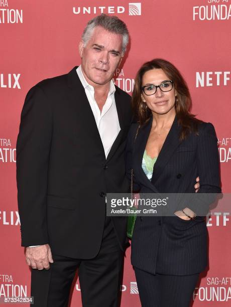 Actor Ray Liotta and Silvia Lombardo arrive at SAGAFTRA Foundation Patron of the Artists Awards 2017 on November 9 2017 in Beverly Hills California