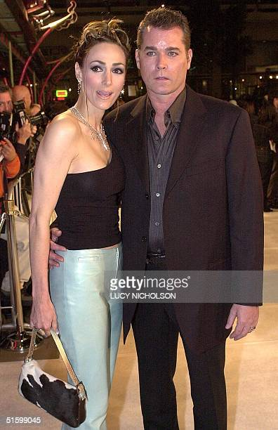 US actor Ray Liotta arrives at the premiere of his new film 'Blow' with his wife Michelle Grace in Hollywood Los Angeles CA 29 March 2001 In the...