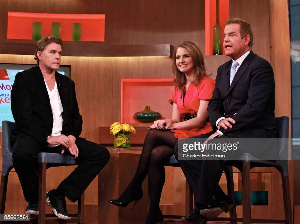 Actor Ray Liotta visits with temporary cohost and anchor from Fox Business Network Jenna Lee and show host Mike Jerrick on FOX's The Morning Show...