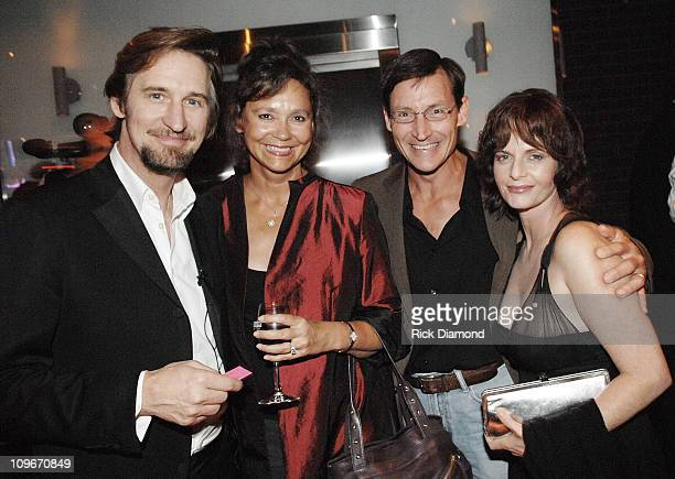 Actor Ray McKinnon New York Times Best selling Author Jill Conner Browne her husband Kyle Jennings and Actress Lisa Blount at the after party for...