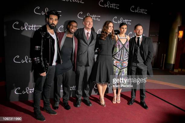 Actor Ray Panthaki a guest director Wash Westmoreland actors Keira Knightley Aiysha Hart and Jake Graf attend the 'Colette' Premiere at Cinema...