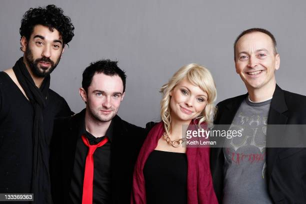 Actor Ray Panthaki writer Simon Fantauzzo actress MyAnna Buring and director Steve Kelly pose for a portrait during the 2009 Sundance Film Festival...